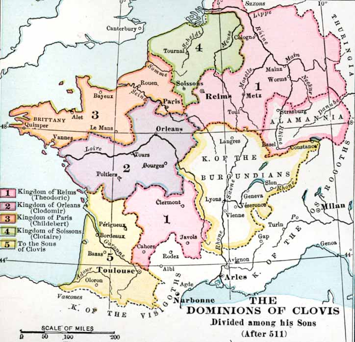 The Divisions of Clovis