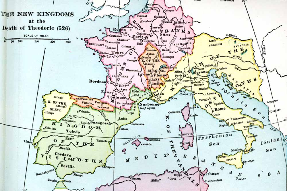 New Kingdoms at the Death of Theodoric