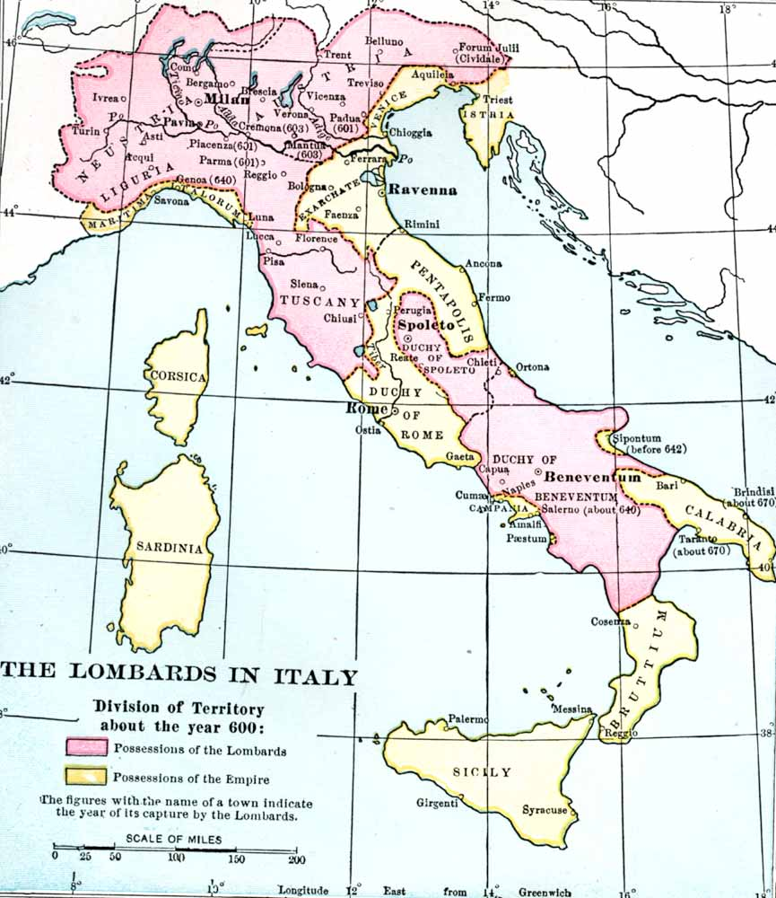 The Lombards in Italy