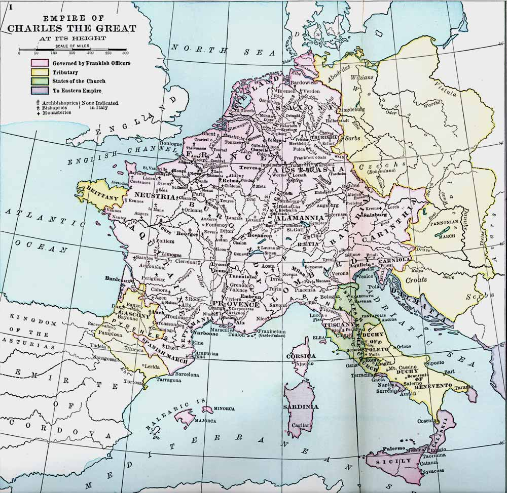 The Height of the Empire of Charles the Great