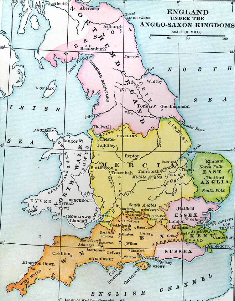 Anglo-Saxon Kingdoms in England