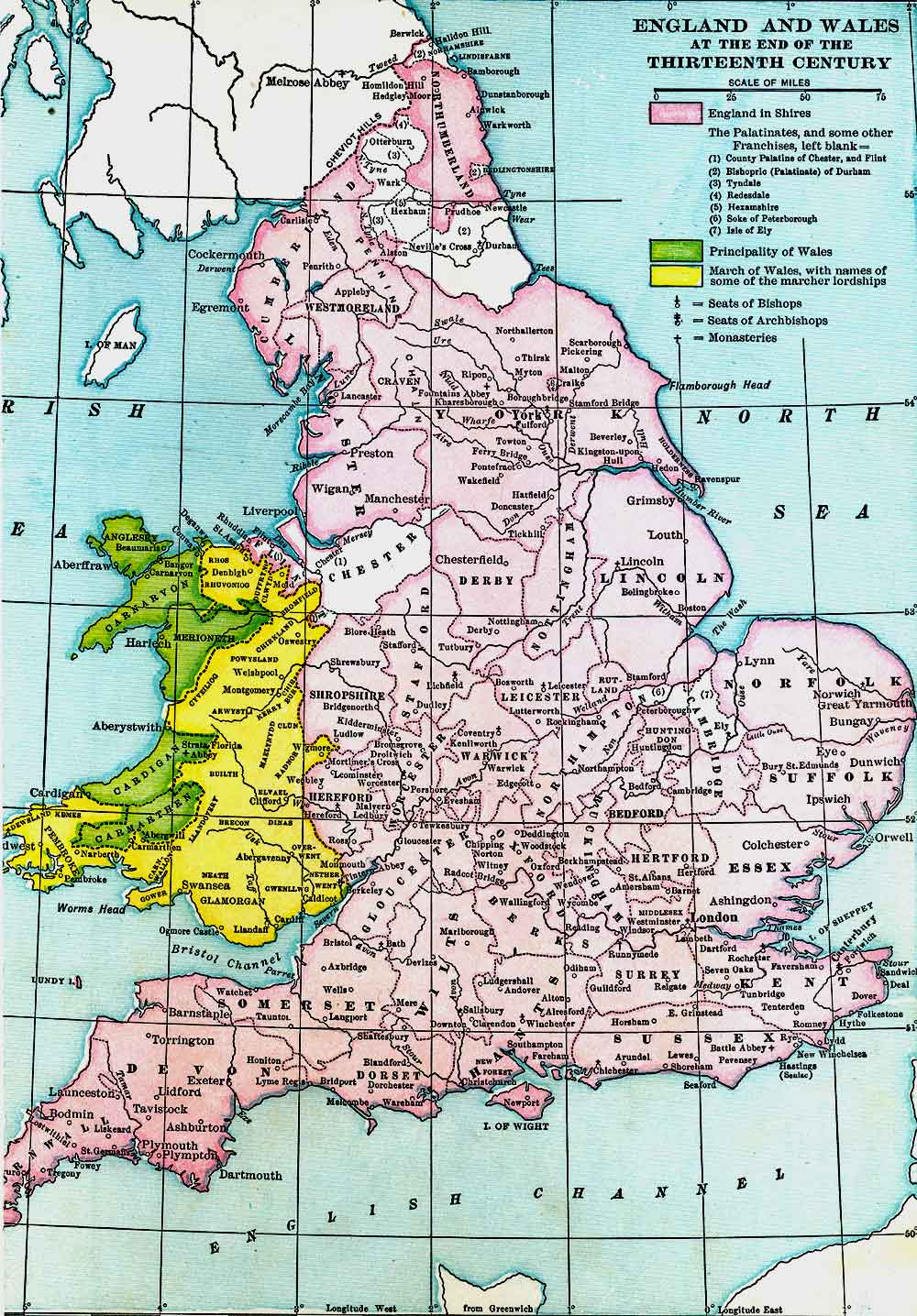 England and Wales at the End of the Thirteenth Century