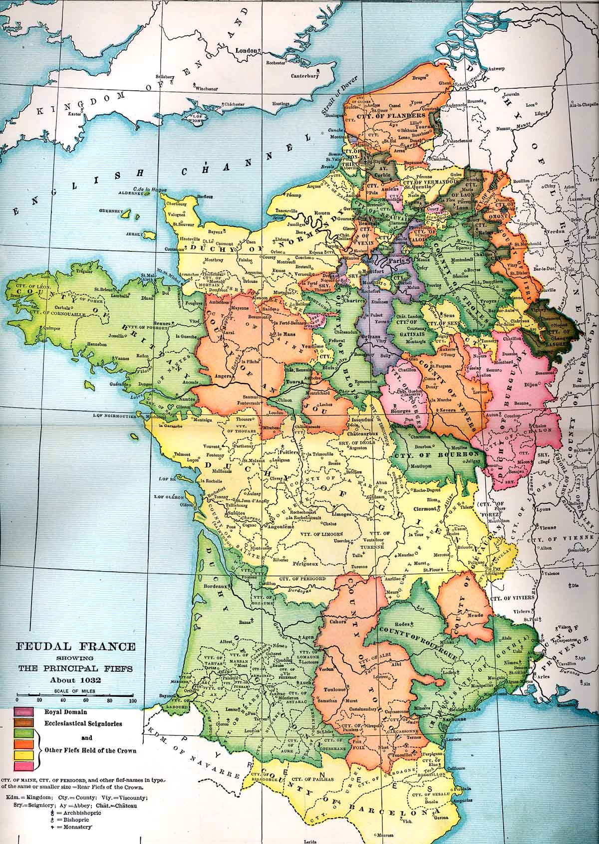 Political Medieval Maps Capetian France