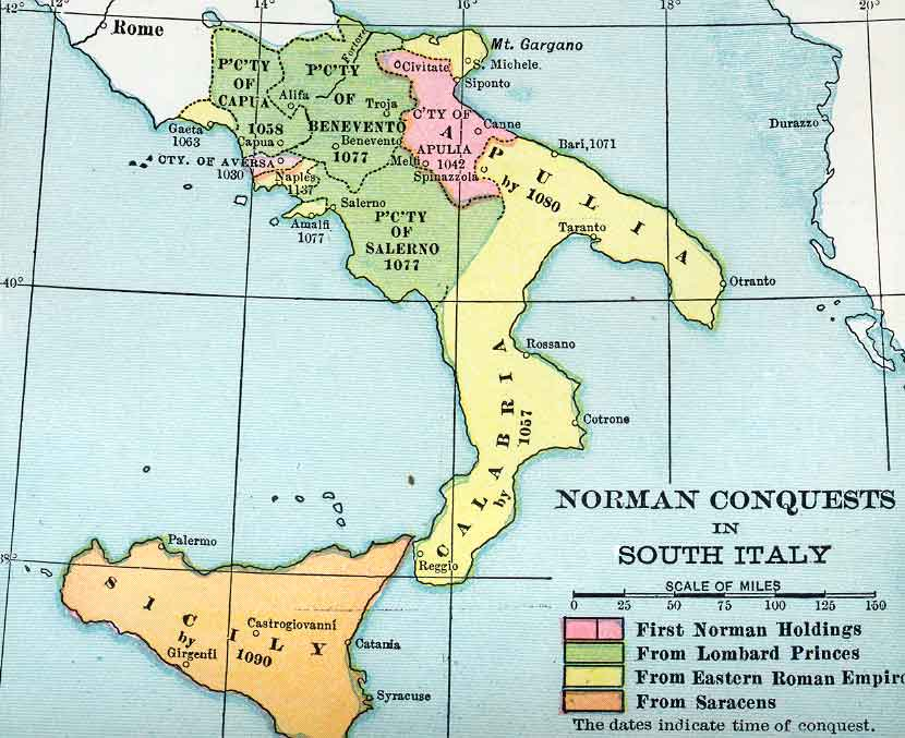 Medieval Map Of Italy.Political Medieval Maps Norman Italy