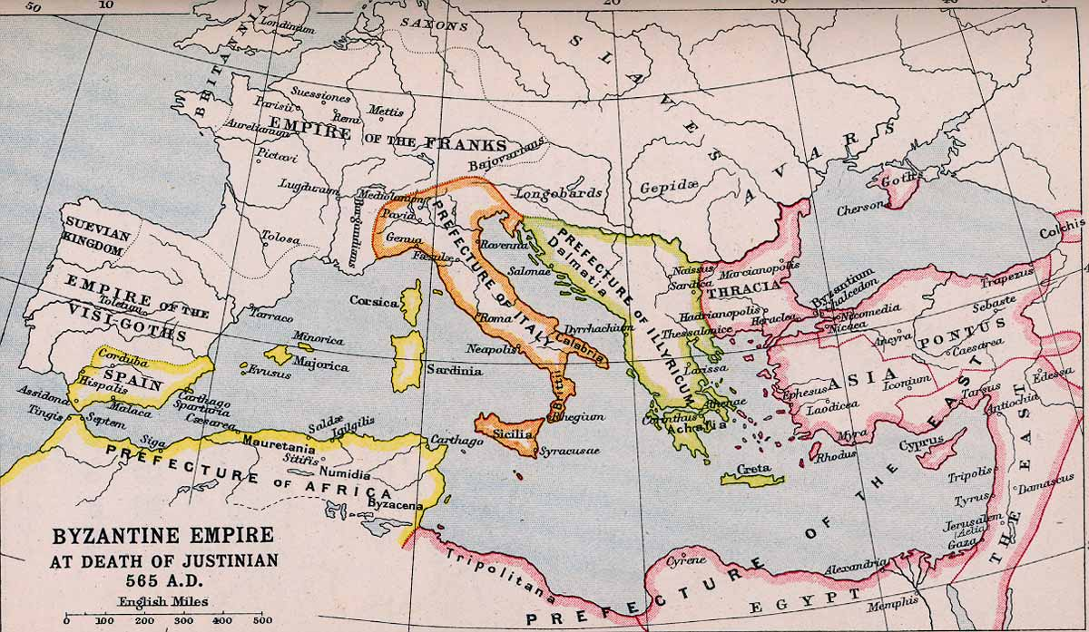Byzantine Empire at the Death of Justinian