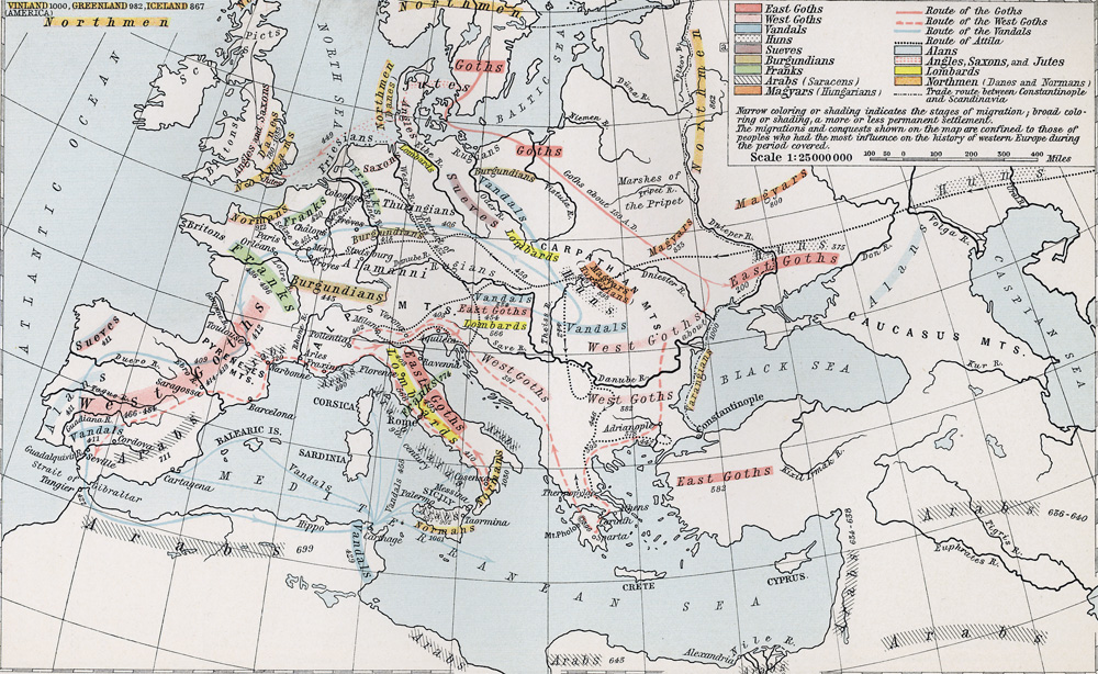 Germanic Migrations and Conquests