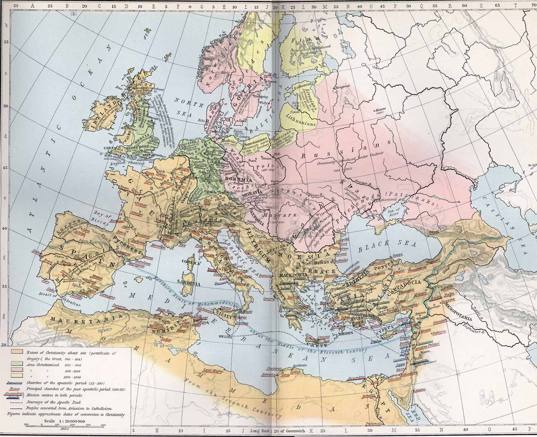 Development of Christianity to 1300