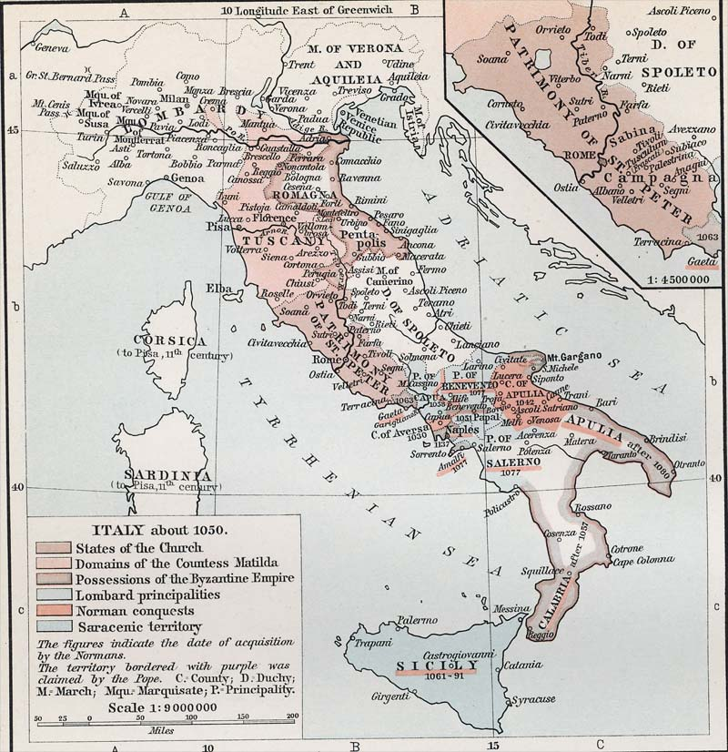 Medieval Map Of Italy.Political Medieval Maps Italy