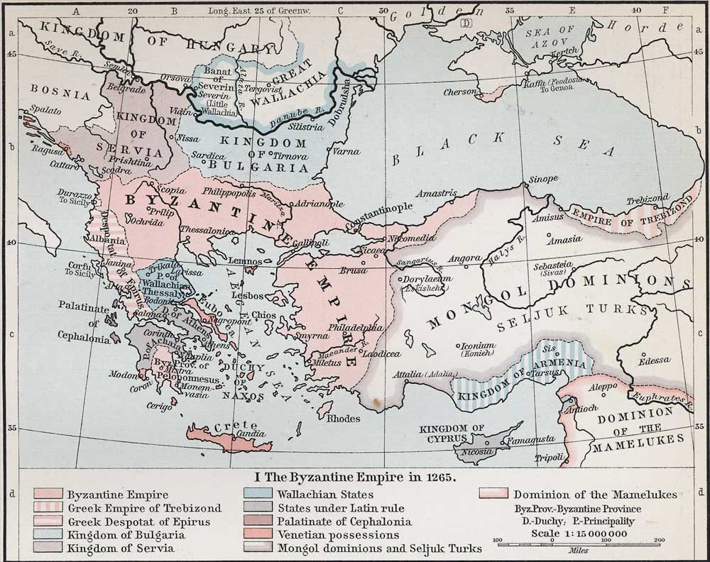 Political Medieval Maps - The Byzantine Empire